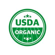 USDA Organic Shield Sign, Symb...