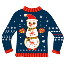 Christmas Sweater With Snowman