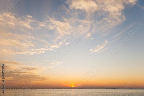 夕方の明石の海