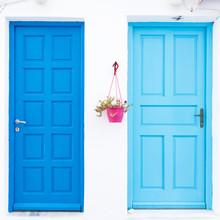 Signature Blue Greek Door