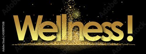 Carta da parati wellness in golden stars and black background
