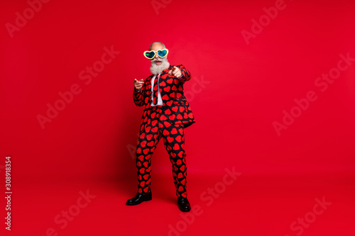 Photo Full length body size view of his he nice attractive cool crazy cheerful cheery