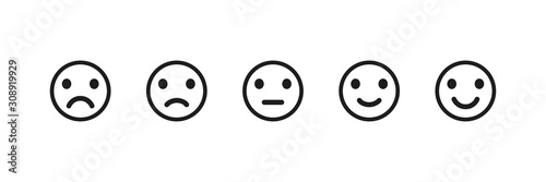 Fotomural  Emoji reaction isolated vector icons