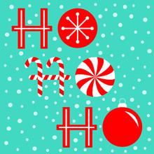 Ho Ho Ho Text Lettering Banner...