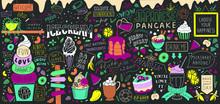 Dessert Doodles Wall Art. Chal...