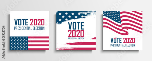 Fotografie, Obraz  2020 United States Presidential Election set