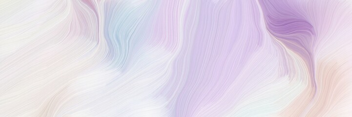 dynamic horizontal banner. modern curvy waves background design with lavender, pastel purple and thistle color