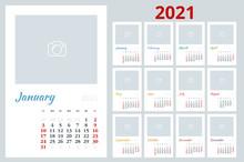 2021 Calendar, Print Template ...