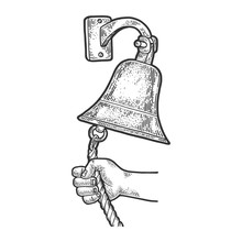 Hand Ring In Ship Bell Sketch ...