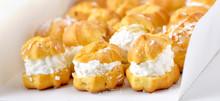Profiteroles Or Cream Puff Cak...