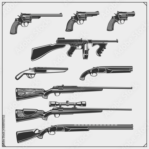 Fotomural Collection of Guns