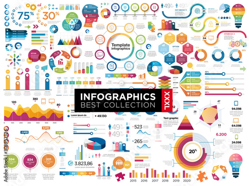 infographics Wallpaper Mural