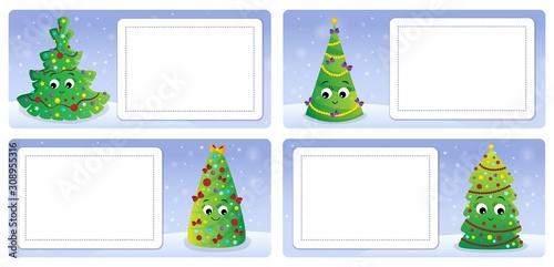 Foto op Aluminium Voor kinderen Stylized Christmas theme cards 2