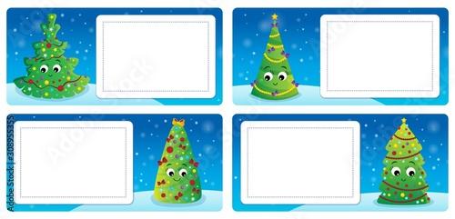 Foto op Aluminium Voor kinderen Stylized Christmas theme cards 3