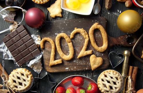 Photo  2020 happy new year baking