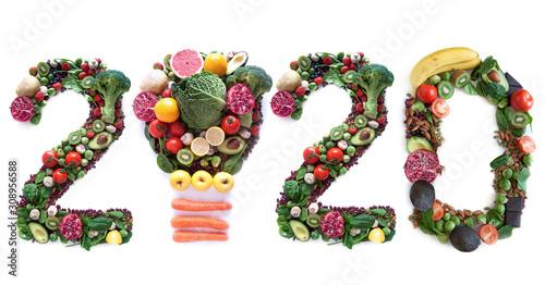 obraz dibond 2020 food closeup