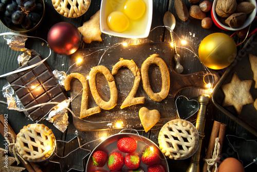 obraz dibond Happy 2020
