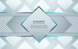 Abstract gray and white overlapping layers background a combination with silver texture line decoration. Luxury and premium concept vector design template for use element modern cover, banner, card