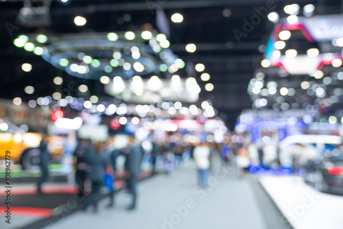 Photo  blur abstract blurred event with people for background