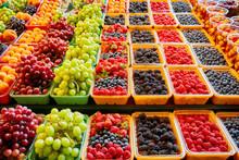 Fresh Berries And Fruits At Di...
