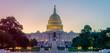 Leinwandbild Motiv Panoramic image of the Capitol of the United States in morning light.