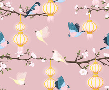 Seamless Pattern With Chinese ...