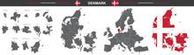 Set Of Vector Maps Of Denmark ...