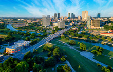 Aerial Of Downtown Fort Worth ...