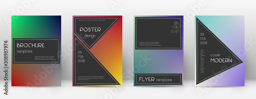 Photo Flyer layout. Black alluring template for Brochure