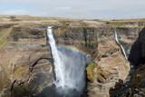Najwyższy wodospad na Islandii, tęcza