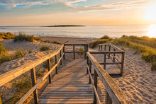 Wooden Path At Baltic Sea Over...