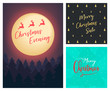 Merry Christmas a4 background Flyer Banner poster template vector illustration offer holiday greeting card pack set