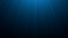 Deep Blue Undersea With Sunlig...