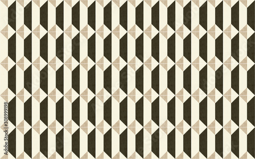 white-beige-brown-and-black-square-wall-tiles-with-abstract-geometry-trapezoid-pattern-background