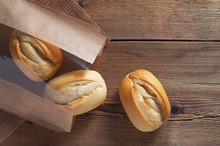 French Buns In Paper Bag
