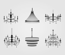 Luxury Chandelier Silhouette V...