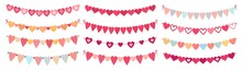 Bunting Hearts. Love Valentine...