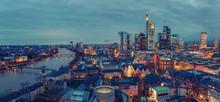 Panoramic View On Frankfurt Am...