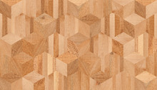 Brown Wooden Wall With Cube An...