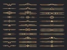 Golden Art Deco Dividers. Vint...