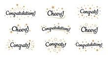 Congrats Lettering. Congratula...