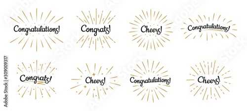 Photo Congratulations lettering