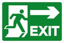Exit Symbol Sign, Vector Illus...