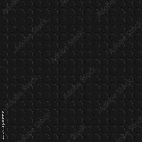 Obraz na plátně Seamless clean black studded rubber flooring panel for texture or background