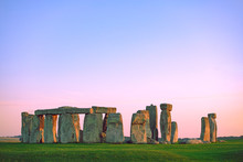 Stonehenge At Pastel Colourful...
