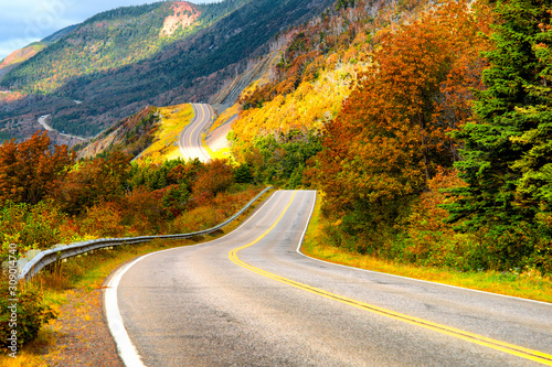 Canvastavla Cabot Trail in Cape Breton Island, Nova Scotia, Canada