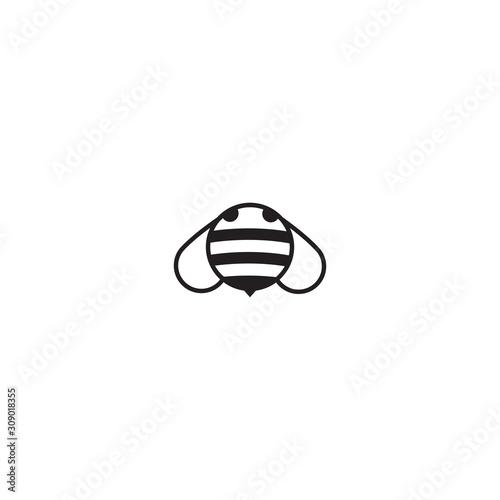 Bee flat icon vector Canvas Print