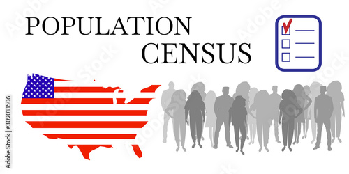 Vászonkép Population census