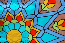 Stained Glass Floral Geometric...