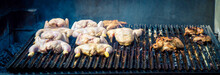 Chicken On An Outdoor Grill